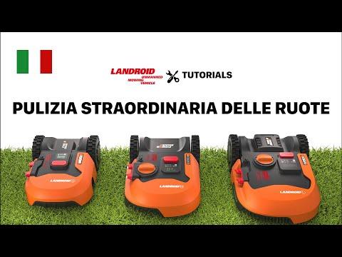 LANDROID TUTORIAL PULIZIA STRAORDINARIA DELLE RUOTE worx-europe.com
