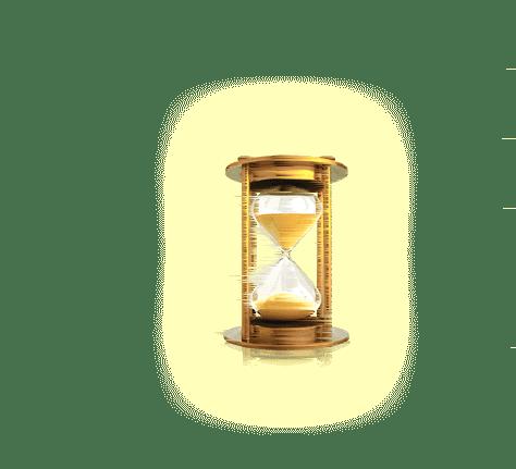 clessidra che misura il tempo