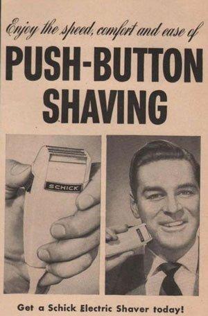 radersi con il rasoio elettrico nel dopoguerra