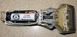 Batteria di un rasoio elettrico