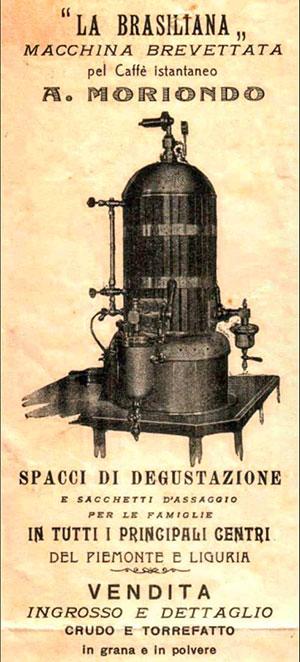prima macchina caffè espresso