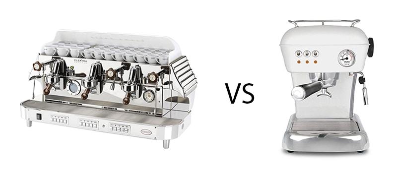 scopriamo le differenze tra la macchina caffè professionale e la macchina caffè semiprofessionale