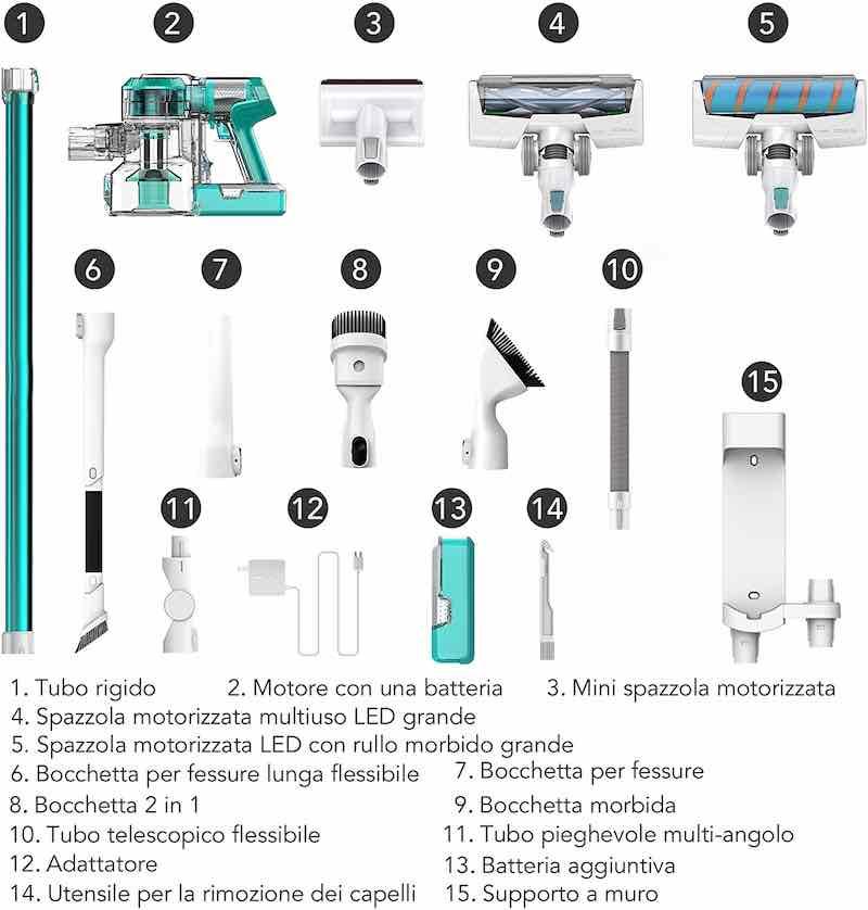 accessori della scopa elettrica tineco v11
